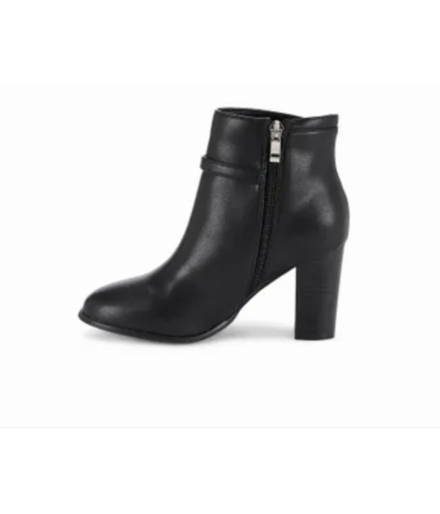 Ceriz Claude Black Round Toe Heeled Boots