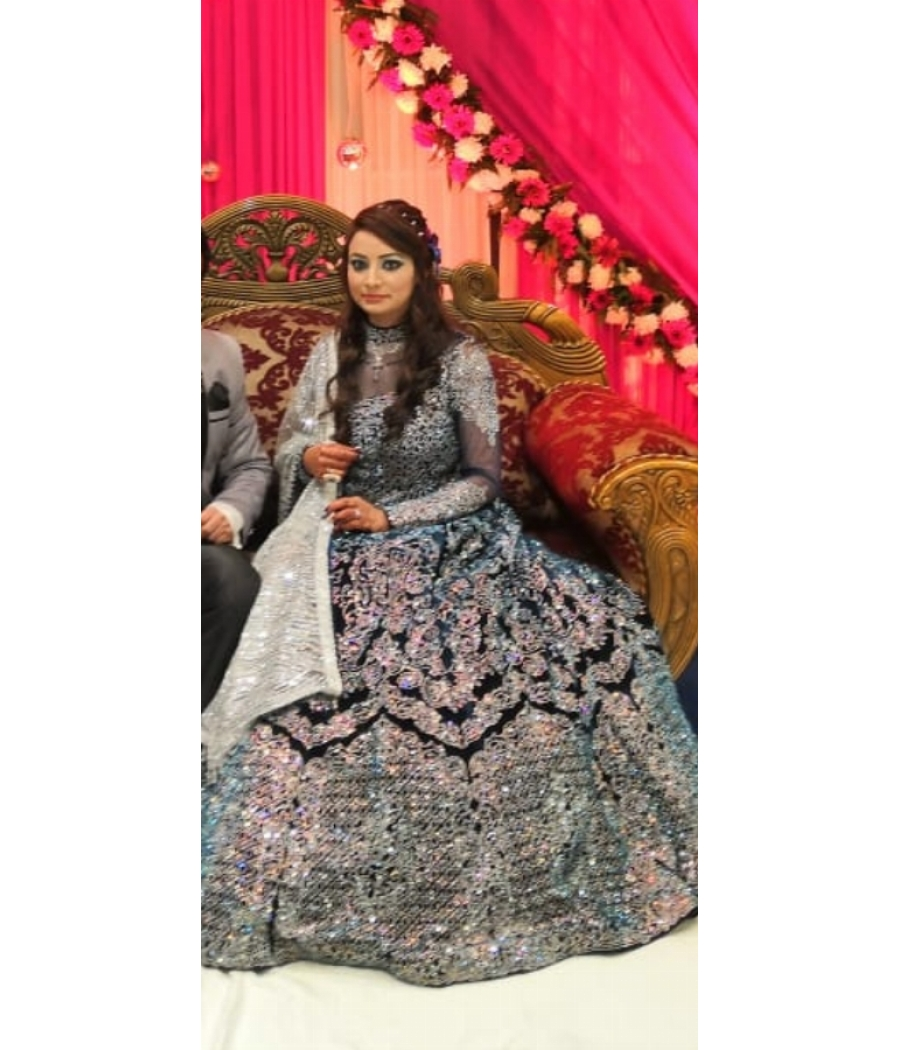 Great condition gown cum lehenga, used only for one time by the bride, is in very excellent condition.