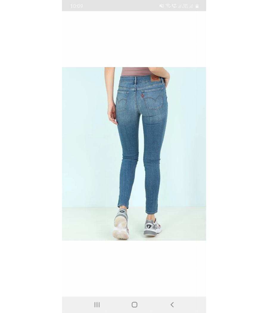 Levis skinny blue jeans
