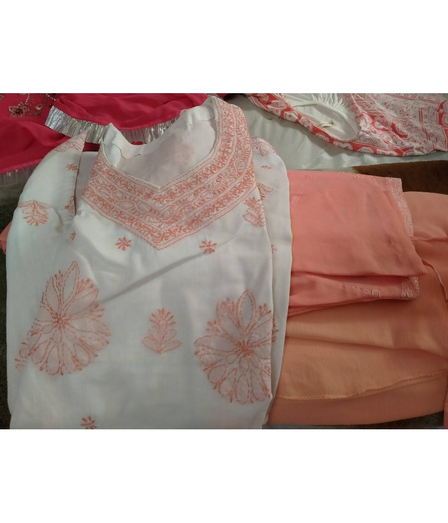 Salwar suit with a straight kurta and dupatta