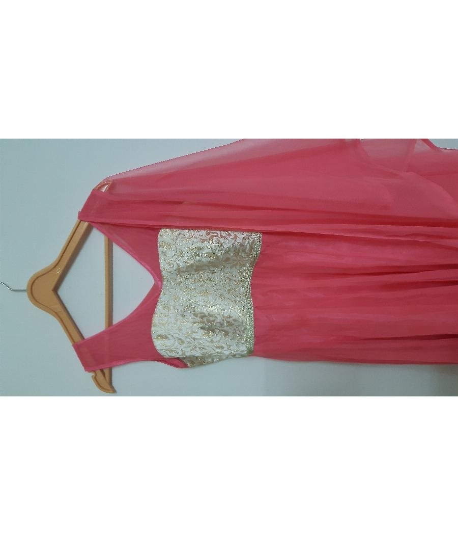 Pink anarkali dress