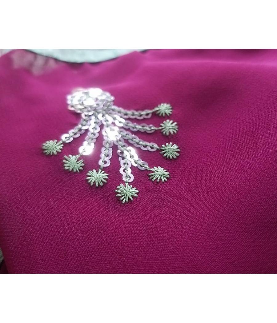 Minimal used Georgette saree at lowest price