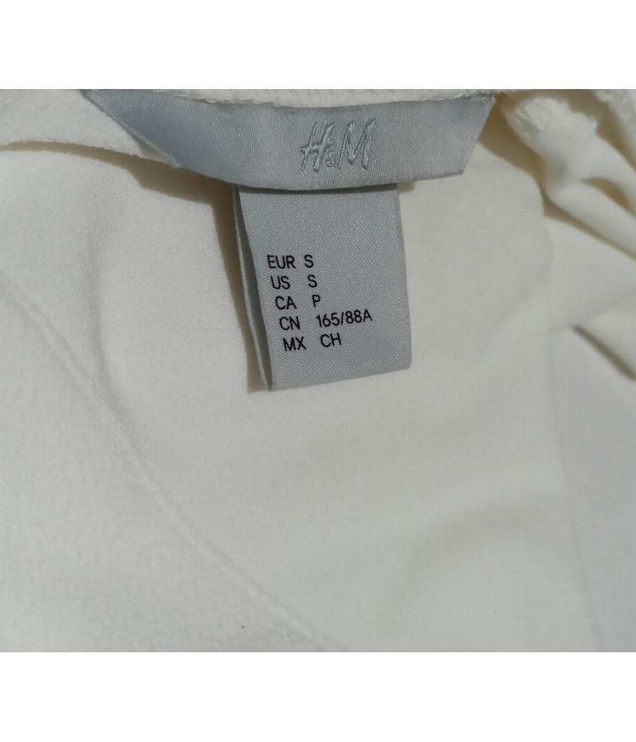 H&M Semi off white shirt with golden buttons