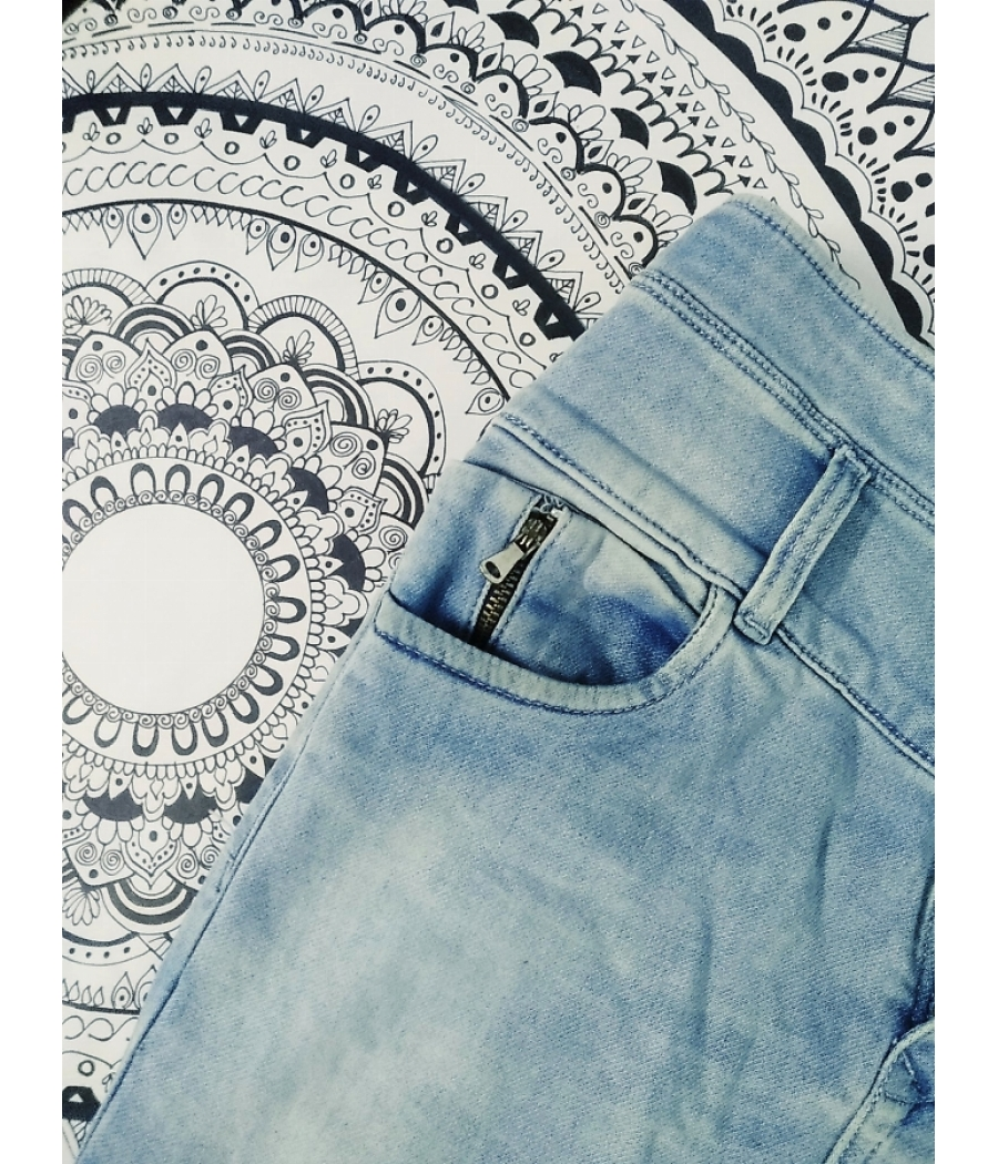 Light Blue High Waist Denim Jeans