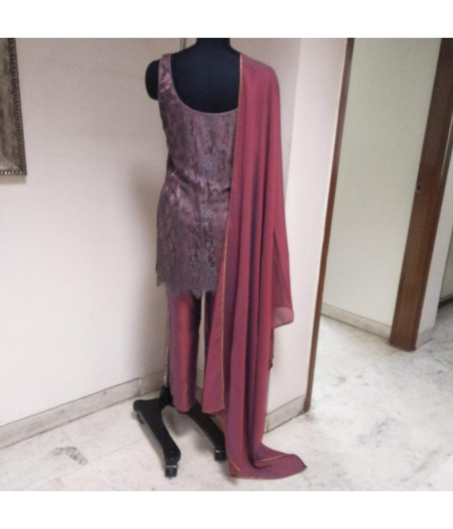 Designer Silk Suit set
