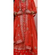 Red bridal lahenga