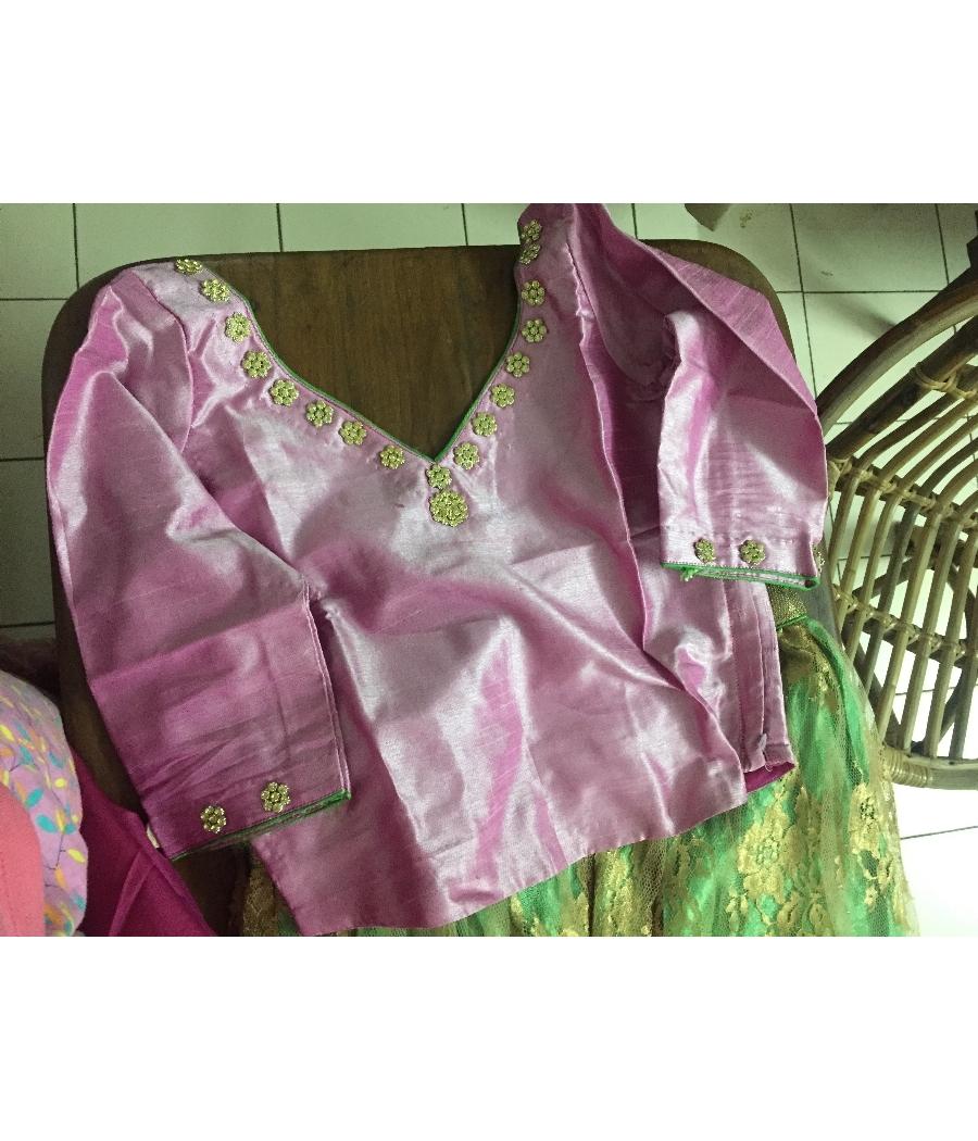 Designer lehenga with pure silk blouse and silk dupatta