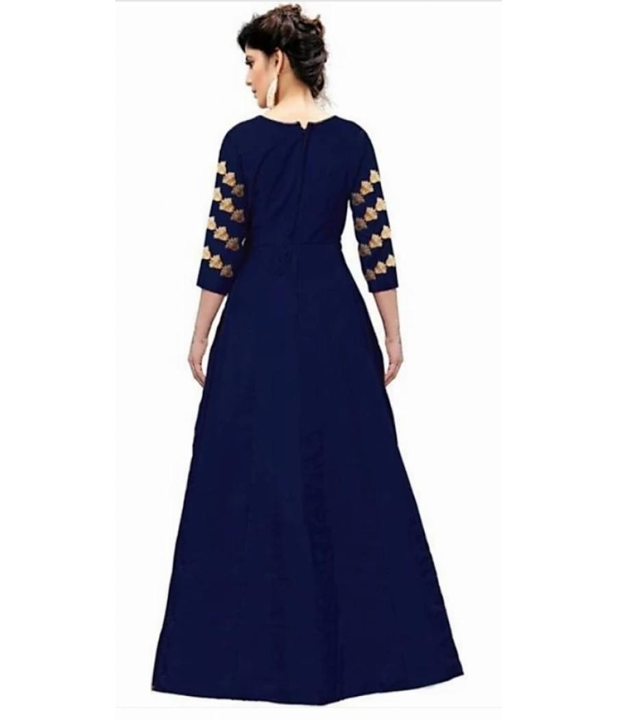 Semi Stitched Anarkali Gown