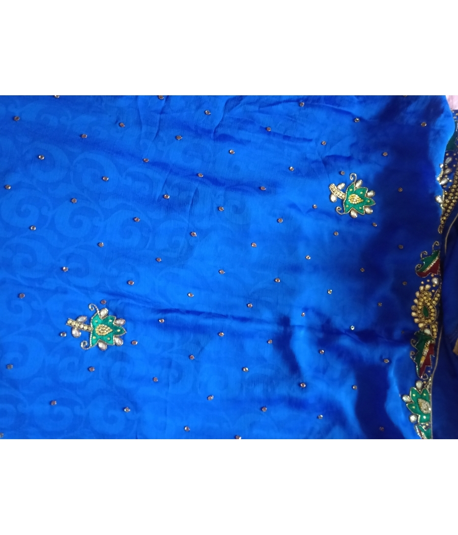 Georgette saree with full beaded work
