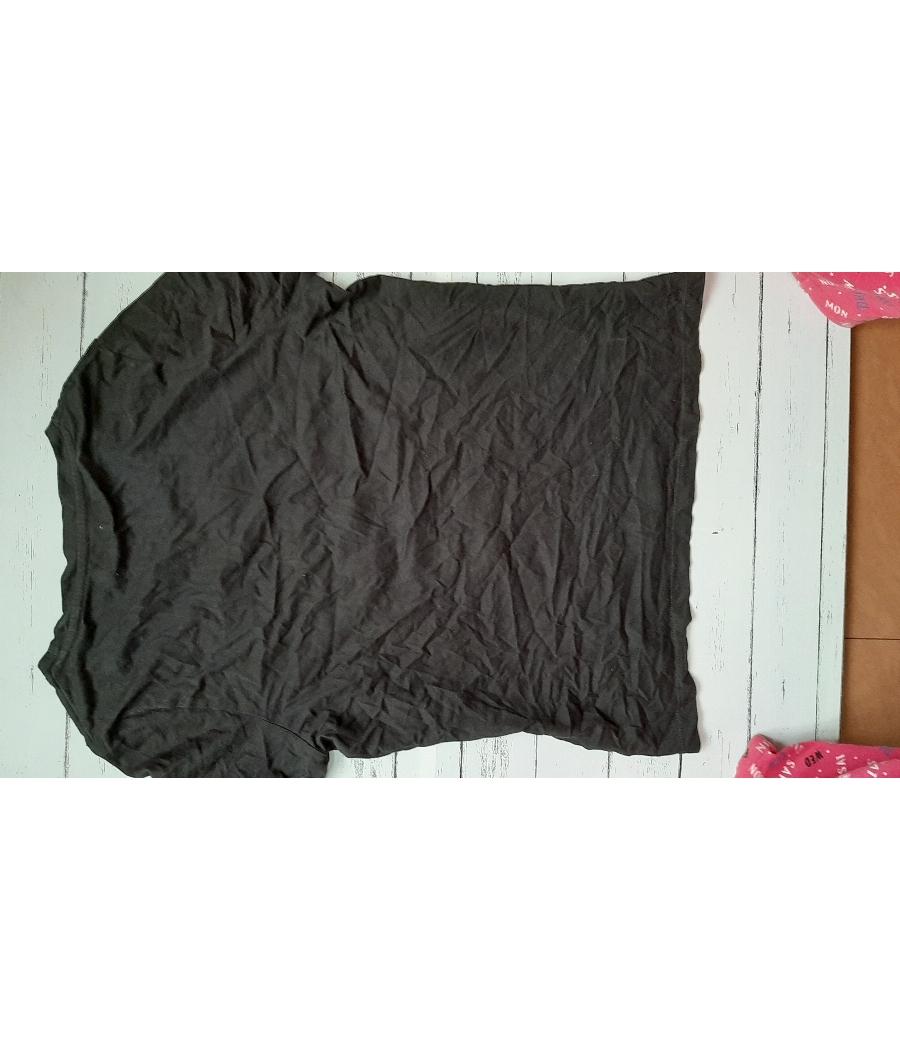 Bossini black embroidered top size XL
