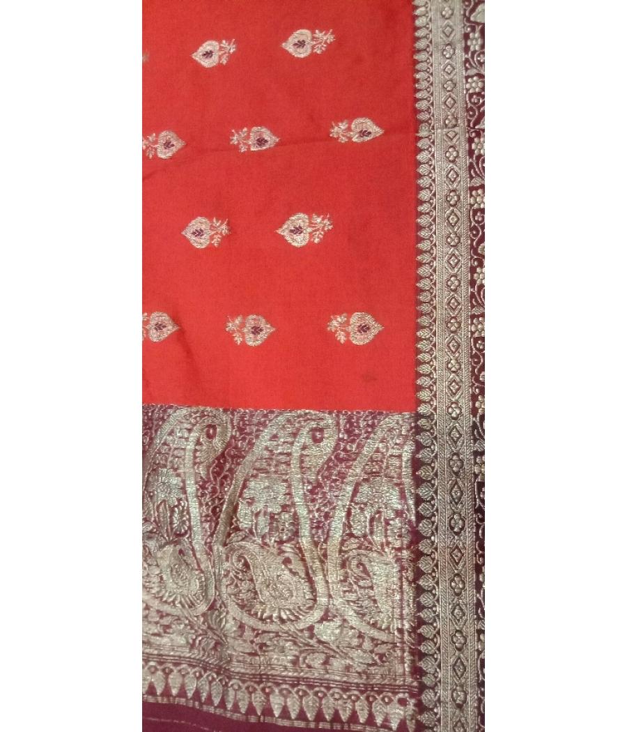 Banarasi silk border saree
