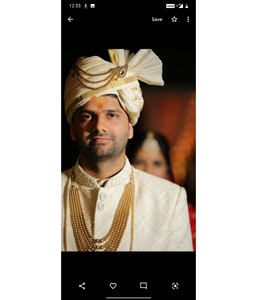 Royal embroidered lucknowi sherwani