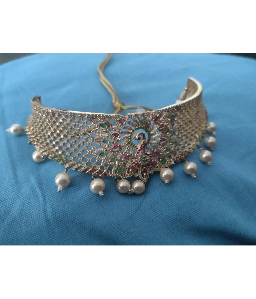 AD stone necklace/ choker
