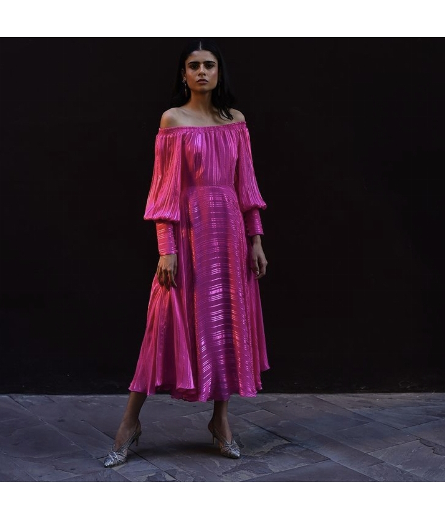 Pink Lurex Dress