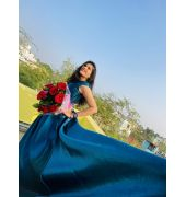 Cerulean colour gown