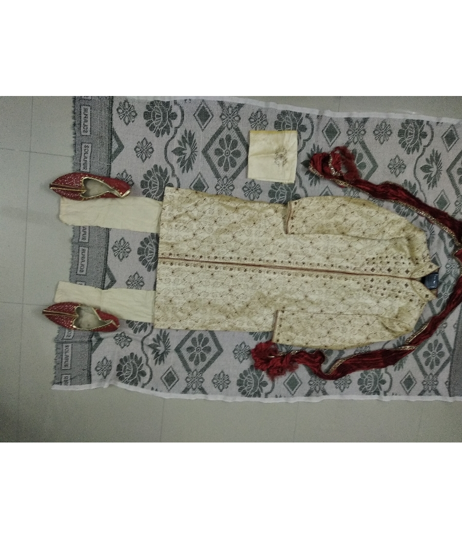 Used twice wedding sherwani set 5 years old
