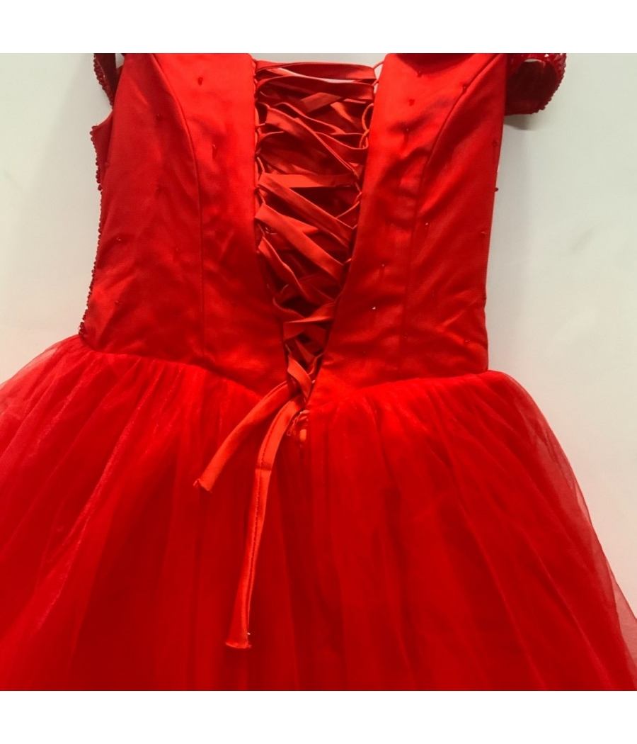 Beautiful embellished red gown