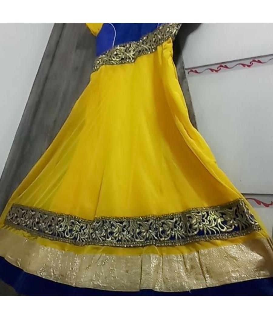 New yellow anarkali dress