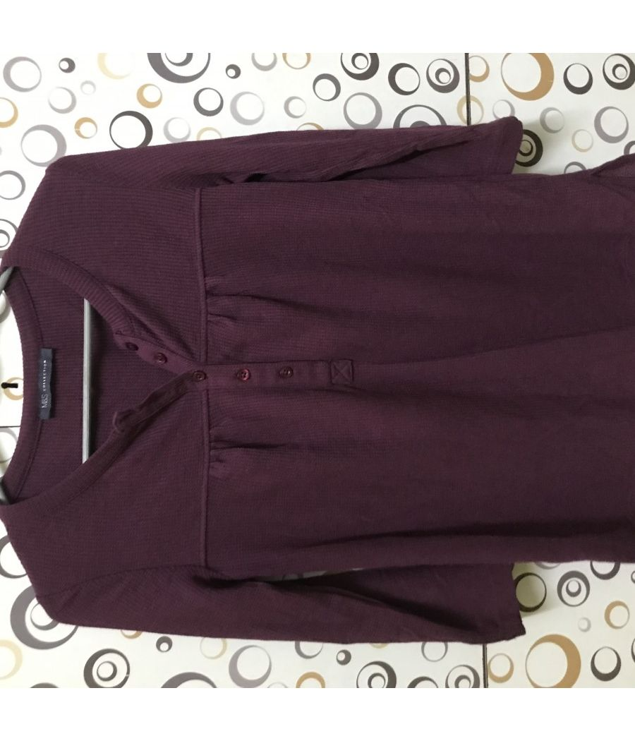 Long Maroon tshirt from Marks and Spencers
