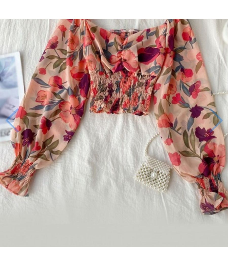 Ruched Front Shirred top