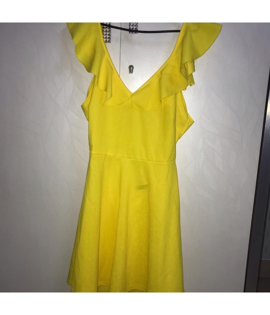 Shein Yellow Dress with knot back