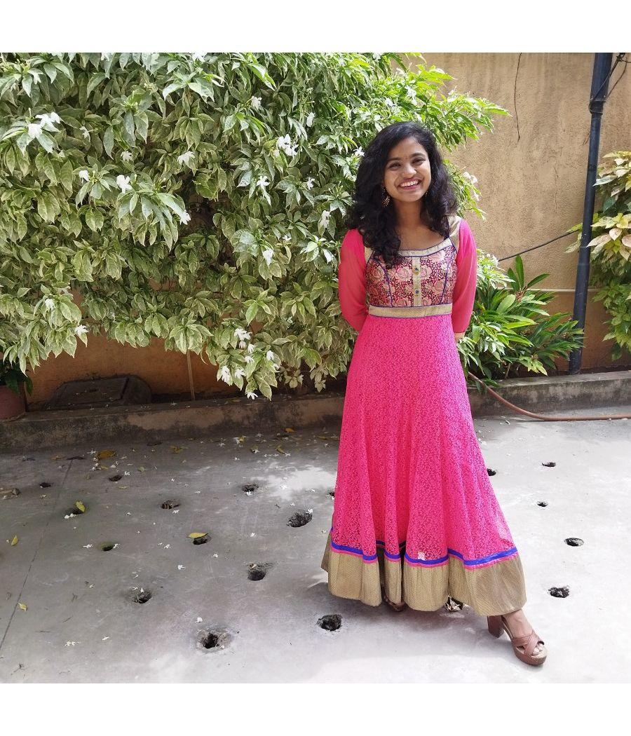 Elegant and bright floor length dress