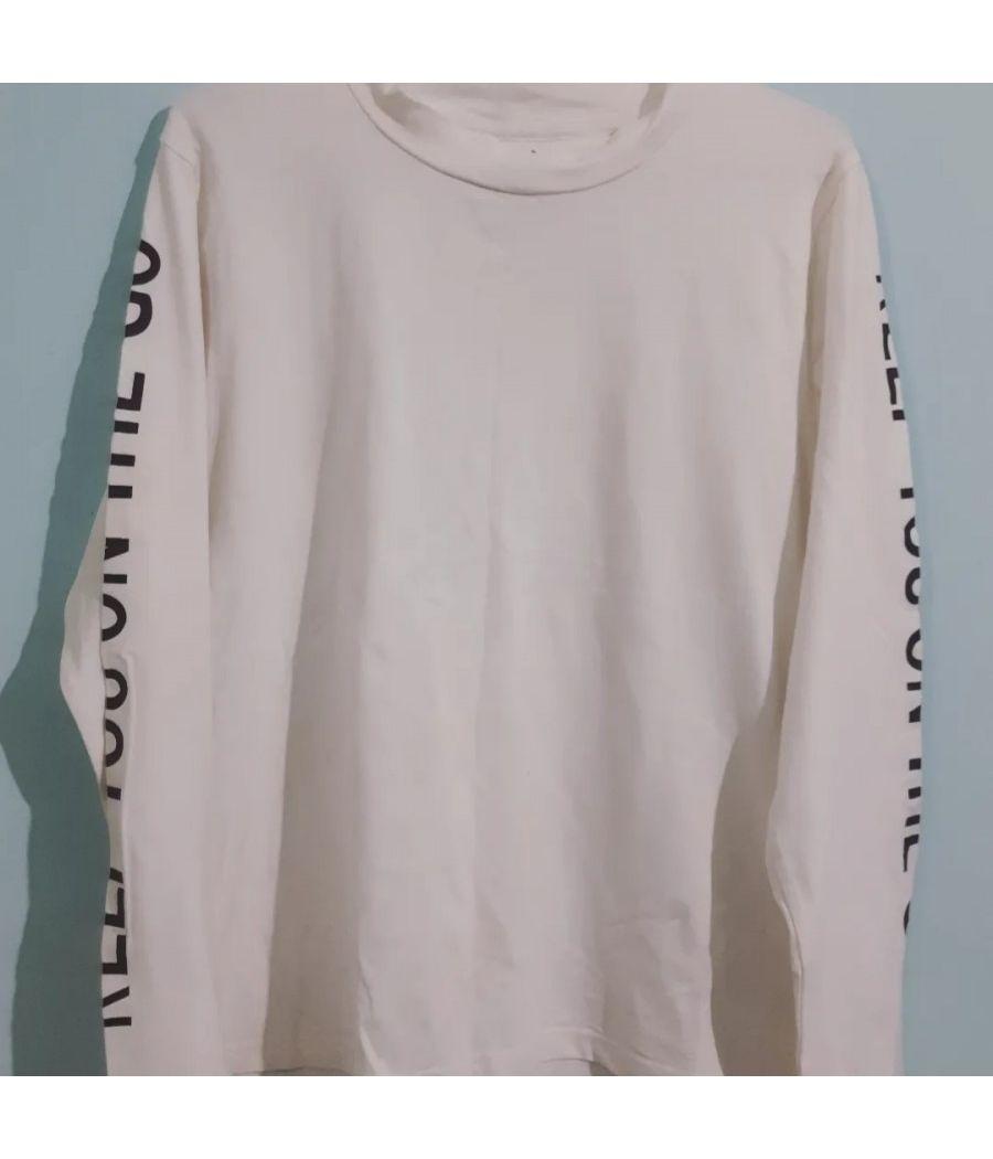 Full sleeves plain white casual wear top