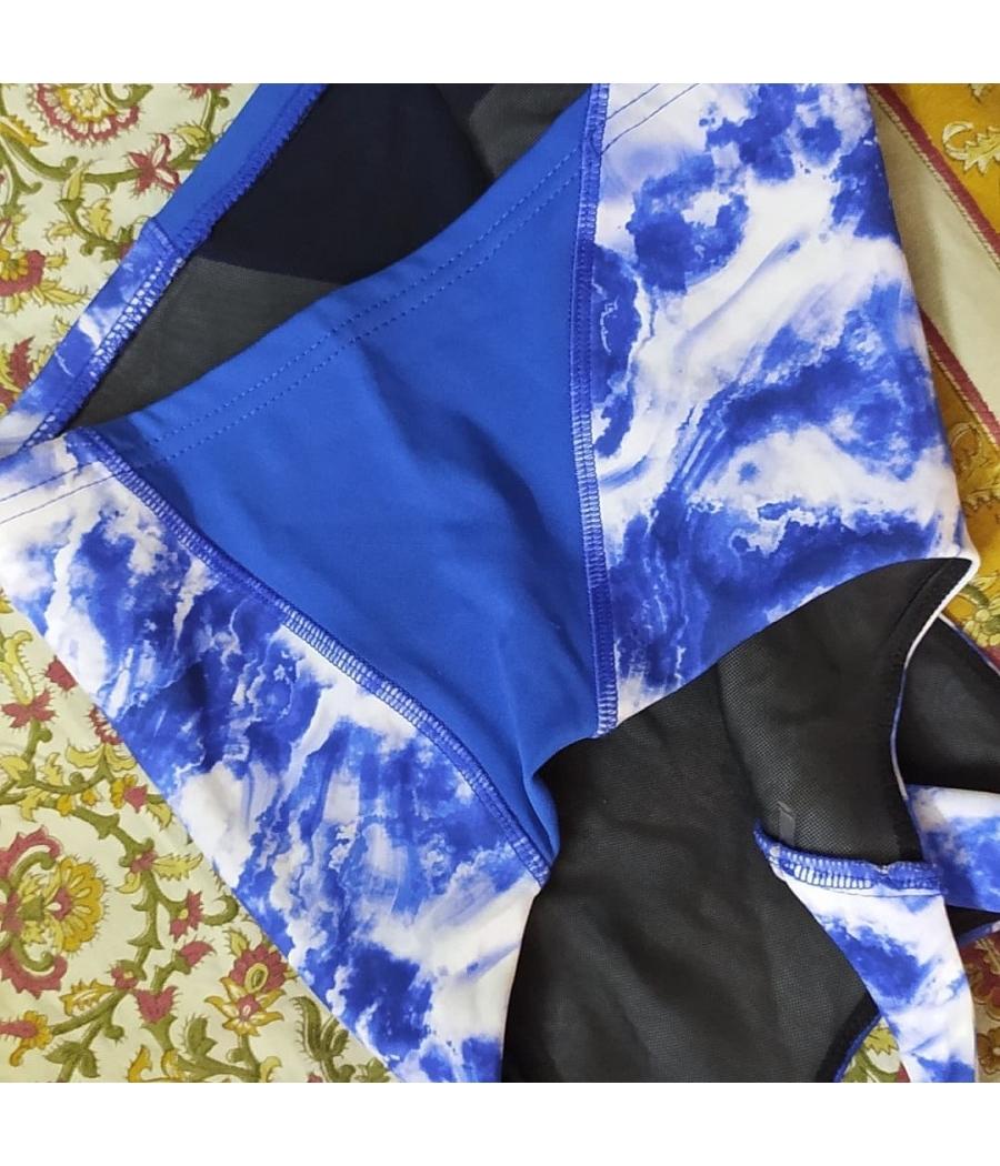 Summer blue crop top