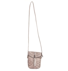 Envie Faux Leather Solid Grey Magnetic Snap Crossbody Bag for Women