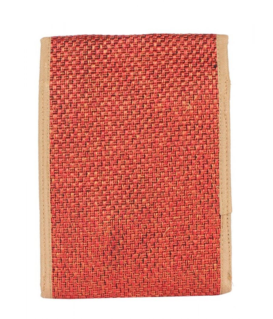 Aliado Jute Red  Coloured Velcro Closure Sling Bag
