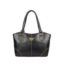 Aliado  Faux Leather Black Zipper Closure Formal Handbag