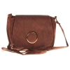 Envie Faux Leather Solid Coffee Brown  Magnetic Snap Closure Croosbody Bag