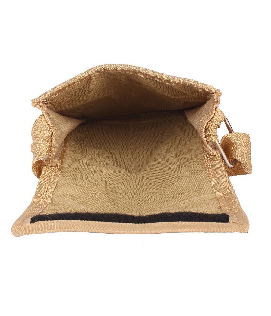 Aliado Jute Grey and Beige  Coloured Velcro Closure Sling Bag