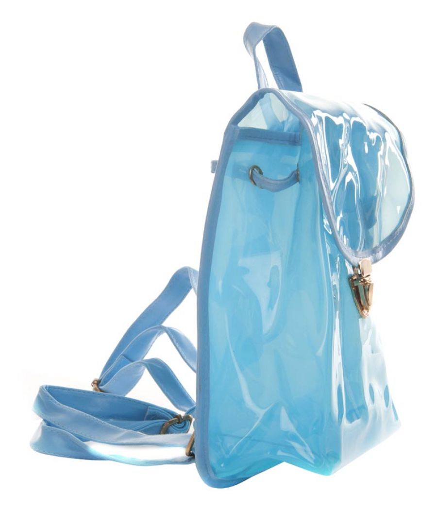 Aliado PVC Solid Mint Tuck Lock Backpack Combo
