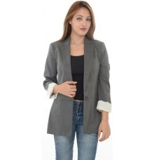 Zara Basic Grey Wool Look Long Coat