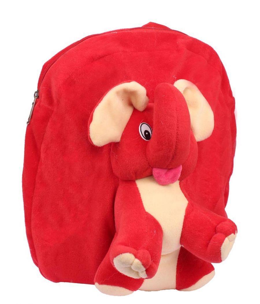 Envie Faux Fur     Red   Coloured Zipper Closure Backpack