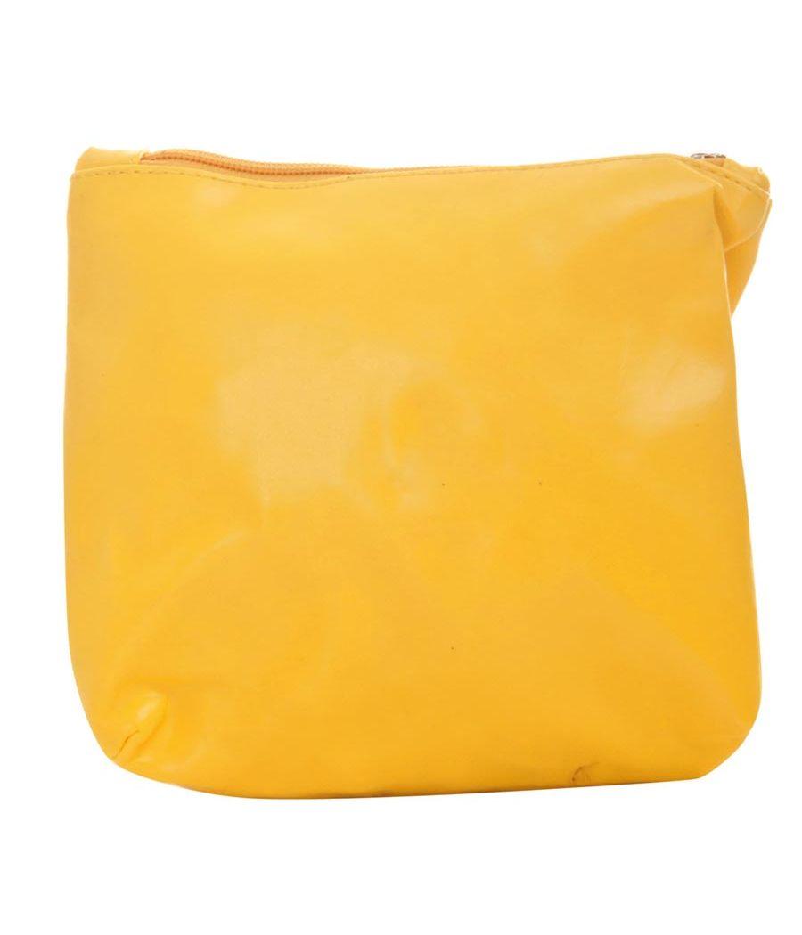 Aliado PVC Solid Yellow Tuck Lock Backpack Combo
