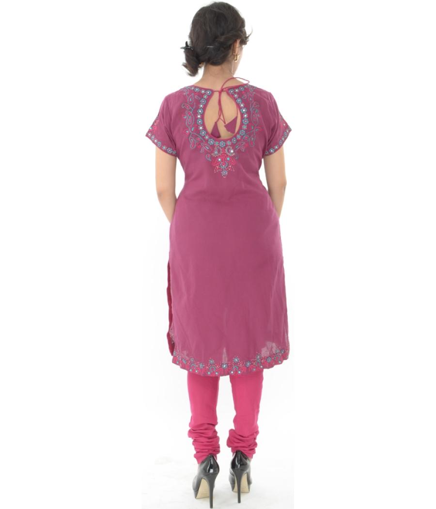 Encre Rose Colour Kurti With Churidhar
