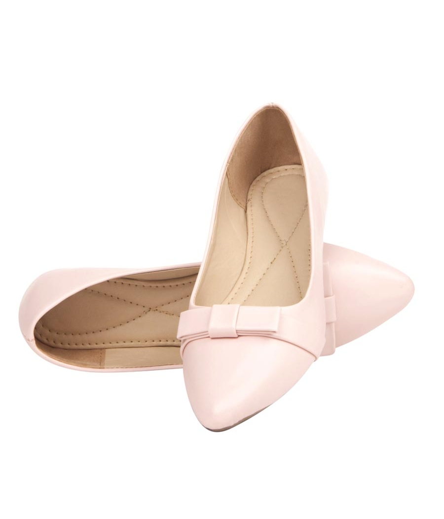 Avidev Synthetic Leather Pink Broad Toe Formal Bellies