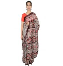 Etashee Certified Pure Silk Saree with Ikkat Weaving