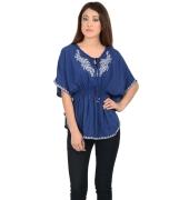 Closet Royal Blue Cotton Kaftan Top