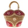 Envie Faux Leather Embellished Maroon Coloured Zipper Closure Handbag