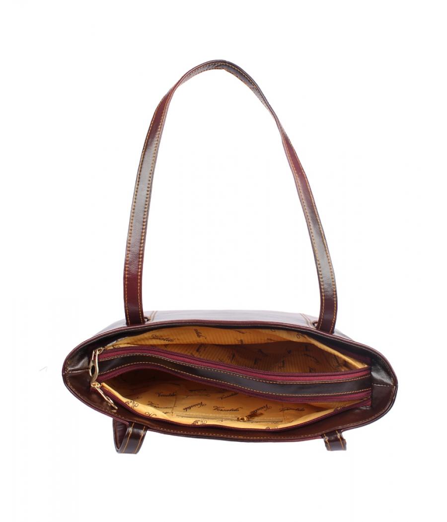 Aliado Faux  Leather Magenta Zipper Closure Formal Bag