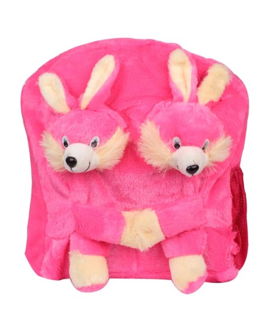 Envie Faux Fur Pink  Coloured Zipper Closure Backpack