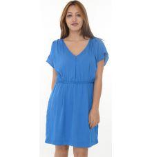Zara Basic Blue Smoked Waist Shift Dress