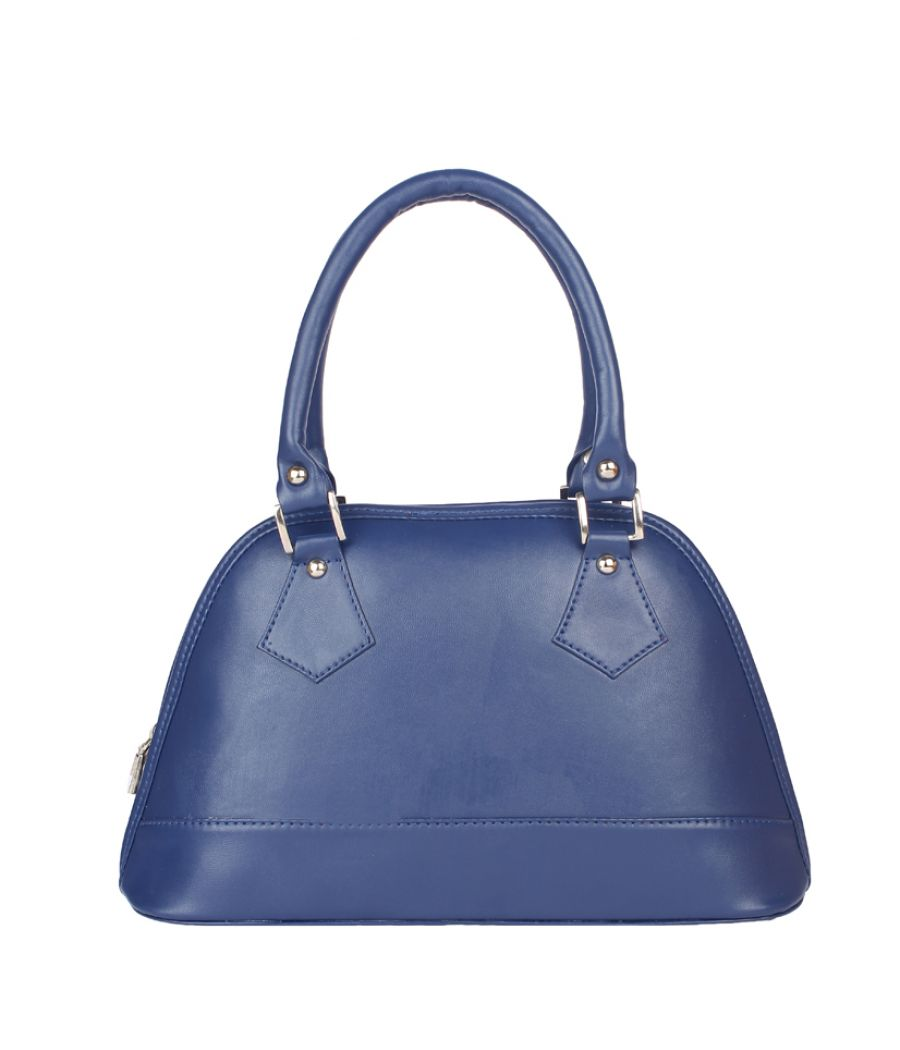 Aliado Faux Leather Blue   Coloured Zipper Closure  Handbag