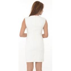 Zara Trafaluc White Neck Embroidered Bodycon Dress