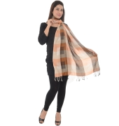 Brown/Multi Checkered Stole