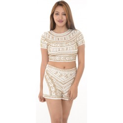 Missguided White Embroidered Playsuit