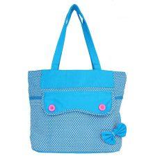 Aliado Cloth Fabric Blue  Coloured Zipper Closure  Handbag